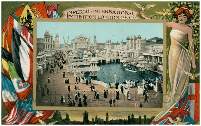 Postcard front: Imperial International Exhibition London 1909