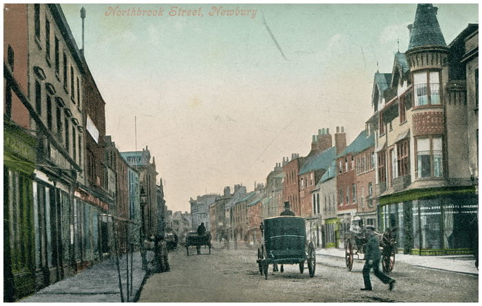 Postcard front: Northbrook Street, Newbury