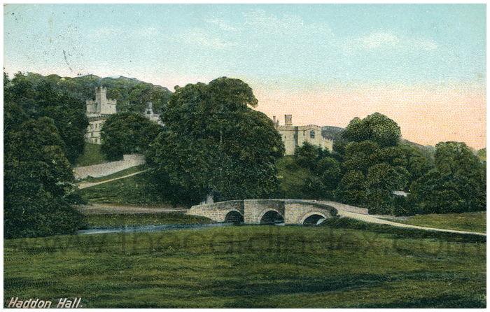 Postcard front: Haddon Hall.