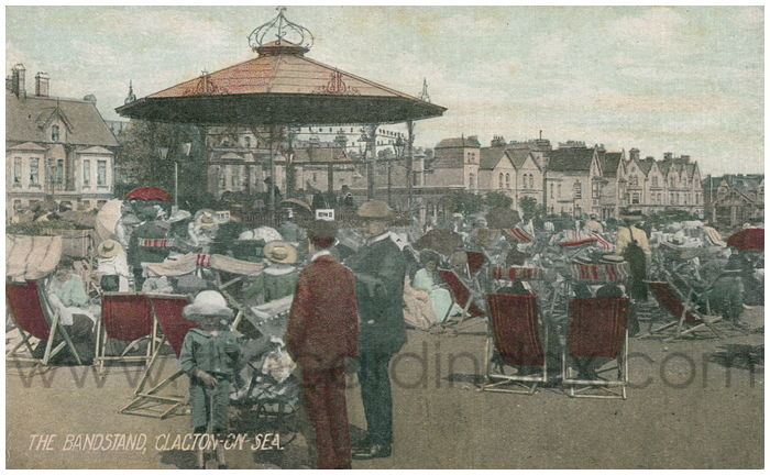Postcard front: The Bandstand, Clacton-On-Sea.