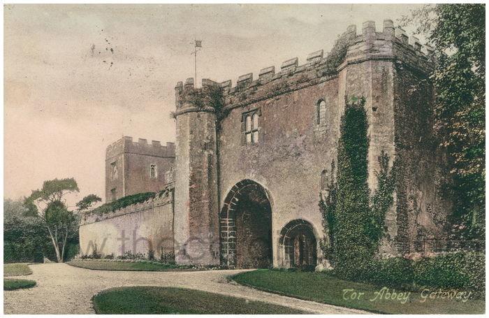 Postcard front: Tor Abbey Gateway