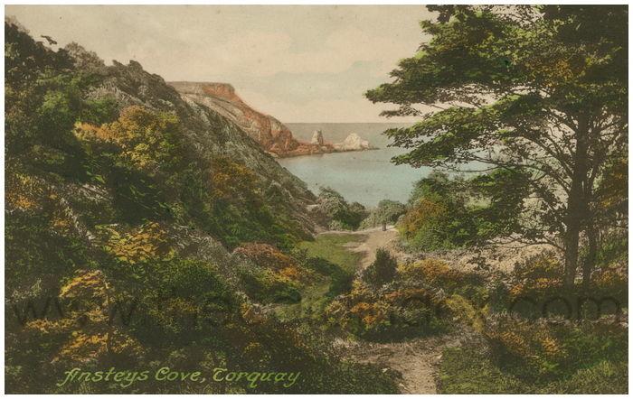 Postcard front: Ansteys Cove, Torquay