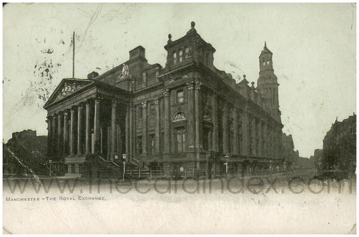 Postcard front: Manchester - The Royal Exchange.