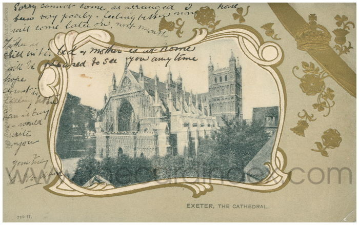 Postcard front: Exeter, The Cathedral.