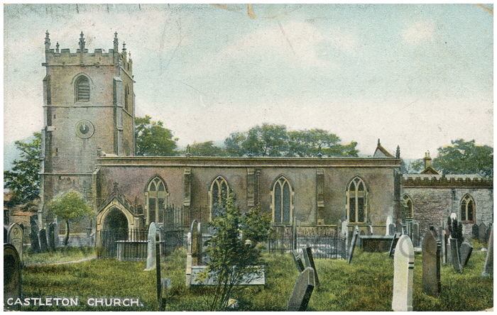 Postcard front: Castleton Church