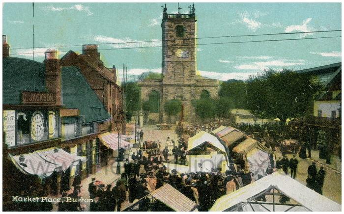 Postcard front: Market Place, Buxton