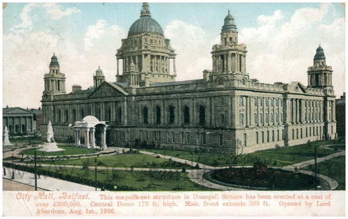 Postcard front: City Hall, Belfast.