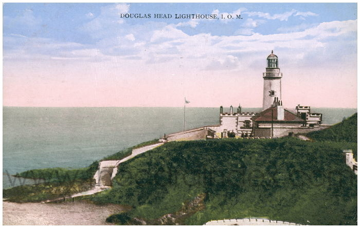 Postcard front: Douglas Head Lighthouse, I.O.M.