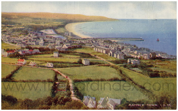 Postcard front: Ramsey Town, I.O.M.