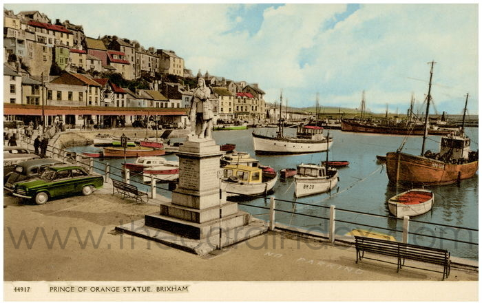 Postcard front: Prince of Orange Statue, Brixham