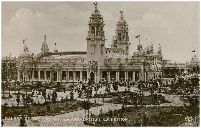 Postcard front: Palace of the Orient, Japanese-British Exhibition.