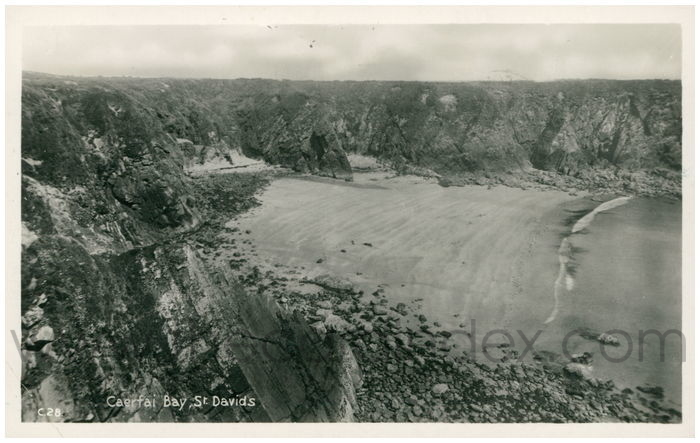 Postcard front: Caerfai Bay, St. Davids.