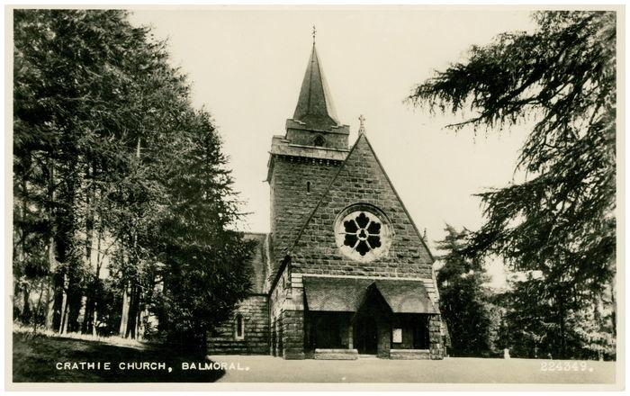Postcard front: Crathie Church, Balmoral.