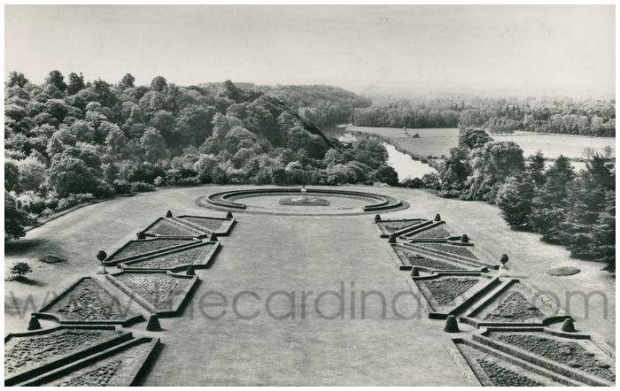 Postcard front: Cliveden, Buckinghamshire A View from the Terrace