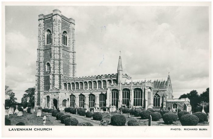 Postcard front: Lavenham Church