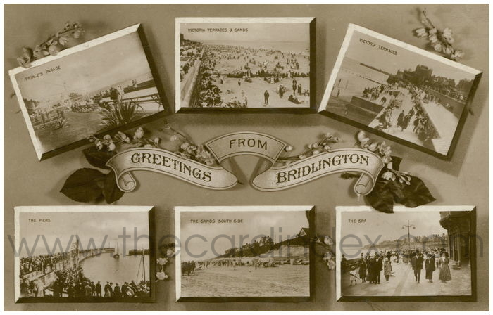 Postcard front: Greetings from Bridlngton