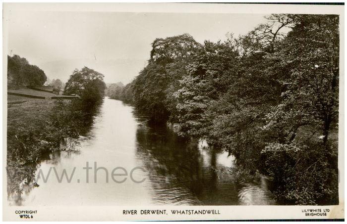 Postcard front: River Derwent, Whatstandwell