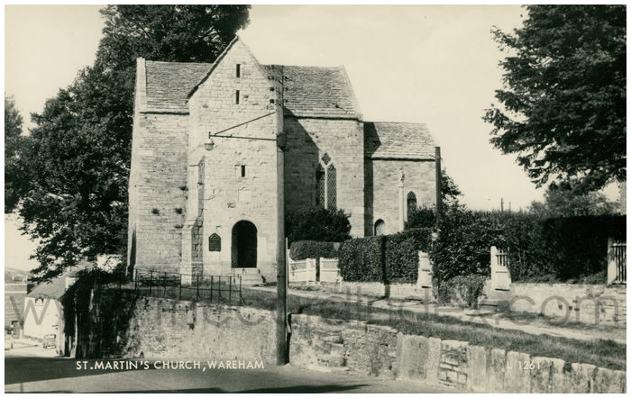 Postcard front: St. Martin's Church, Wareham