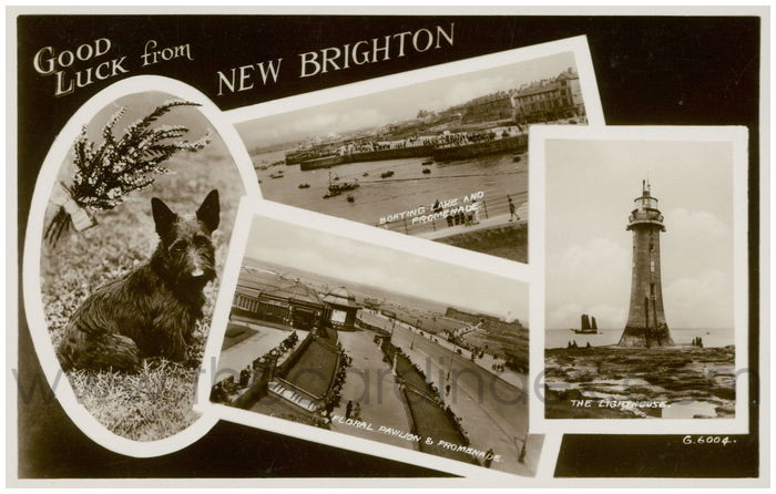 Postcard front: Good Luck from New Brighton