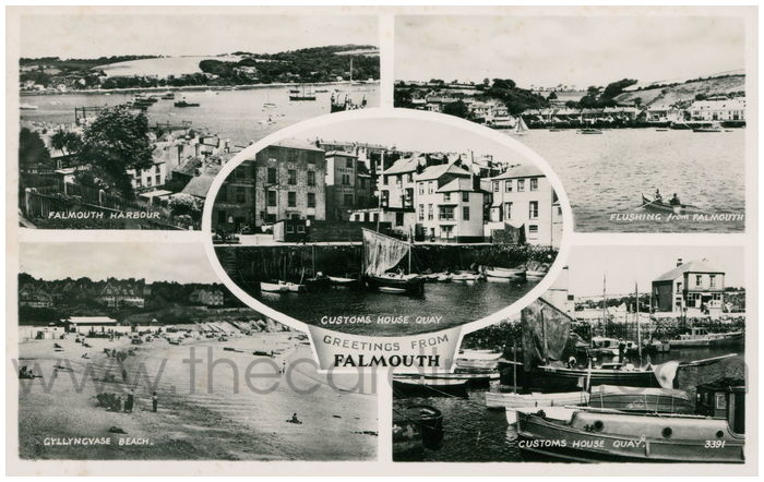 Postcard front: Greetings from Falmouth