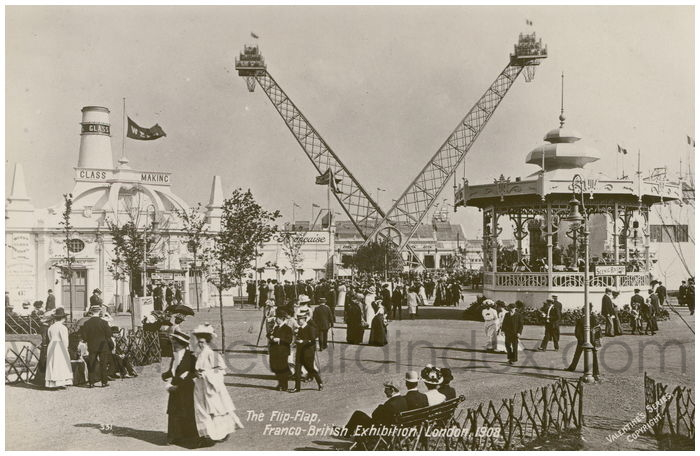 Postcard front: The Flip-Flap, Franco-British Exhibition, London, 1908.