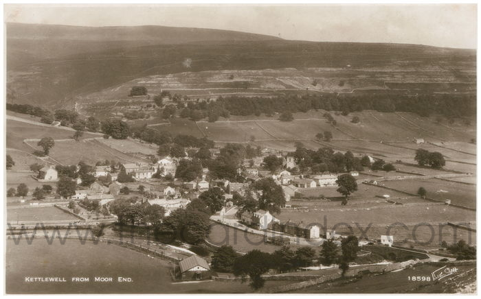 Postcard front: Kettlewell from Moor End.