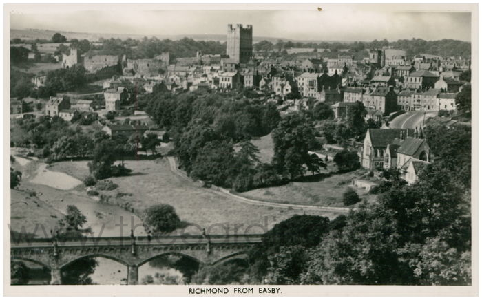 Postcard front: Richmond from Easby.