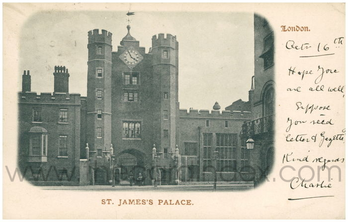 Postcard front: London. St. James's Palace.