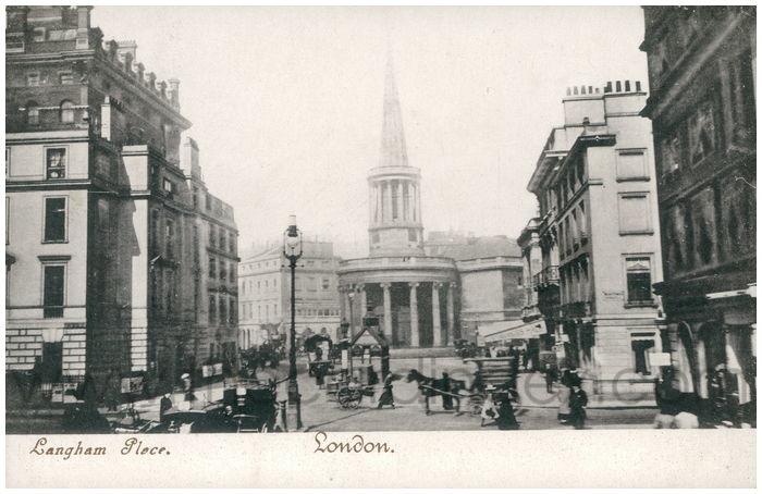 Postcard front: Langham Place. London.