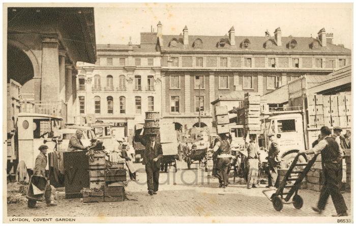 Postcard front: London, Covent Garden