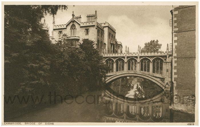 Postcard front: Cambridge. Bridge of Sighs