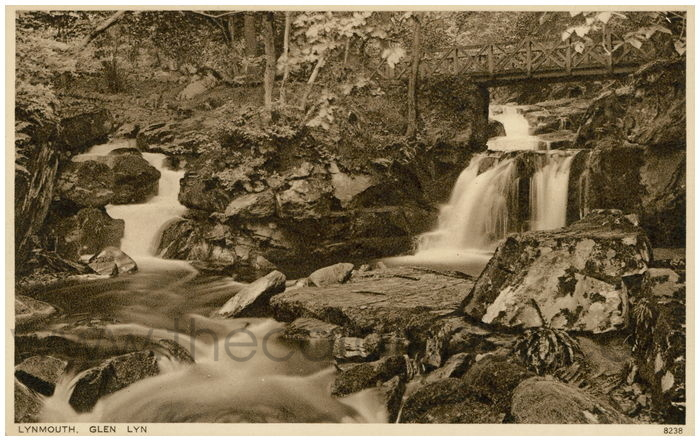 Postcard front: Glen Lyn, Lynmouth.