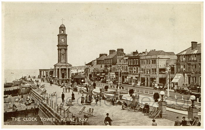 Postcard front: The Clock Tower, Herne Bay.