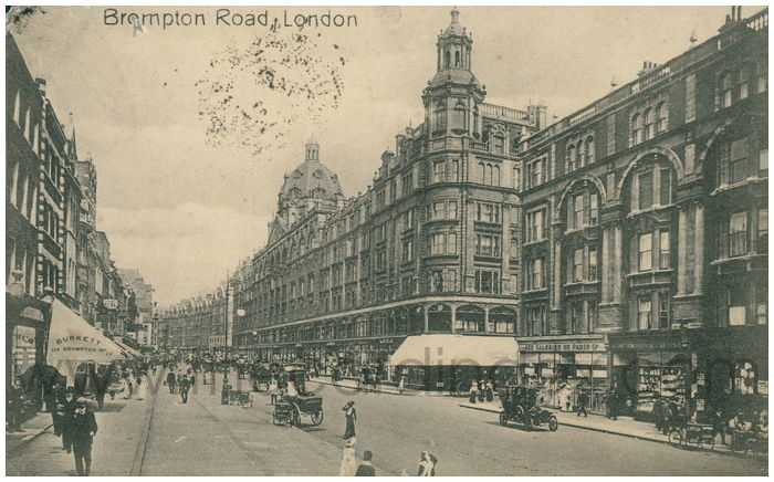 Postcard front: Brompton Road, London