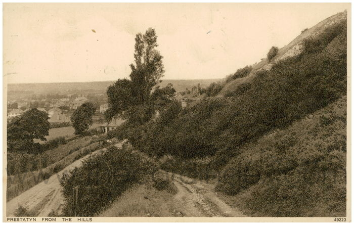 Postcard front: Prestatyn from the Hills