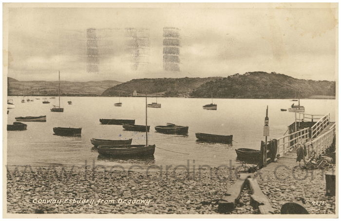 Postcard front: Conway Estuary from Deganwy