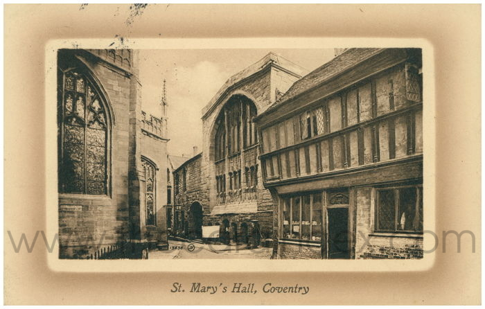 Postcard front: St. Mary's Hall, Coventry