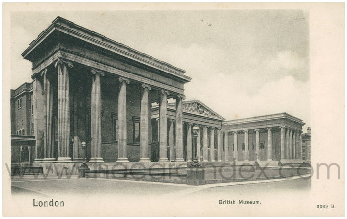 Postcard front: London British Museum.