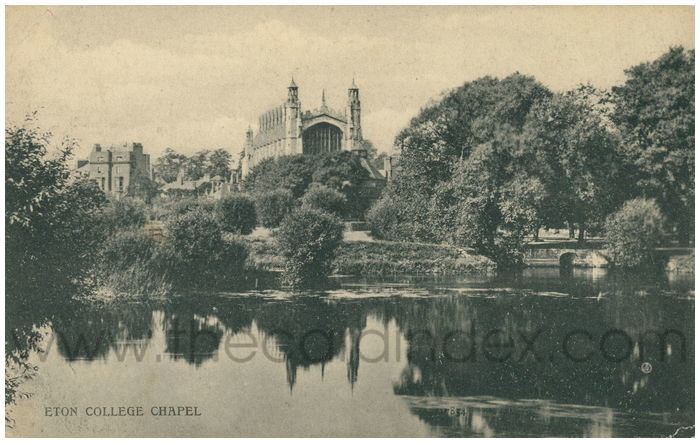Postcard front: Eton College from the Thames