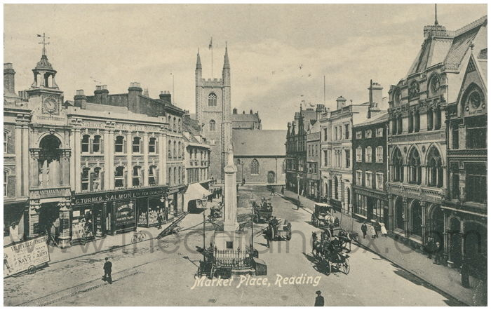 Postcard front: Market Place, Reading