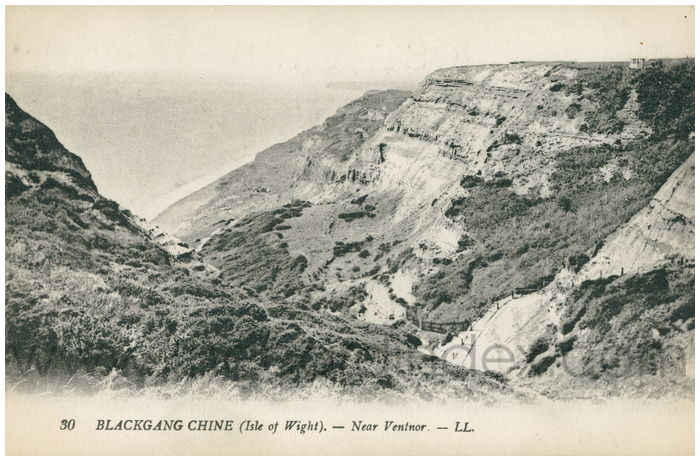 Postcard front: Blackgang Chine (Isle of Wight). - Near Ventnor.