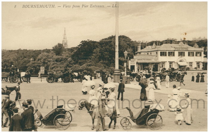 Postcard front: Bournemouth. - View from Pier Entrance.