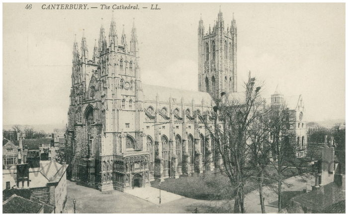 Postcard front: Canterbury. - The Cathedral.