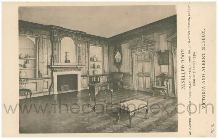 Postcard front: Panelled Room Victoria and Albert Museum
