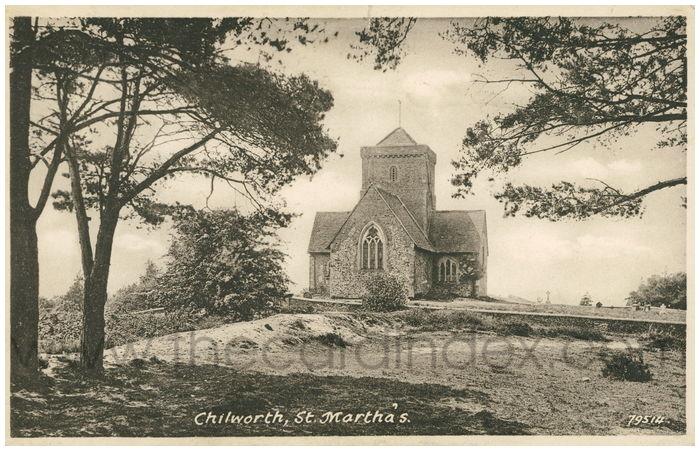 Postcard front: Chilworth, St. Martha's.