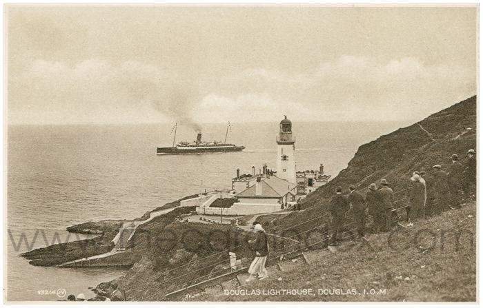 Postcard front: Douglas Lighthouse, Douglas, I.O.M.