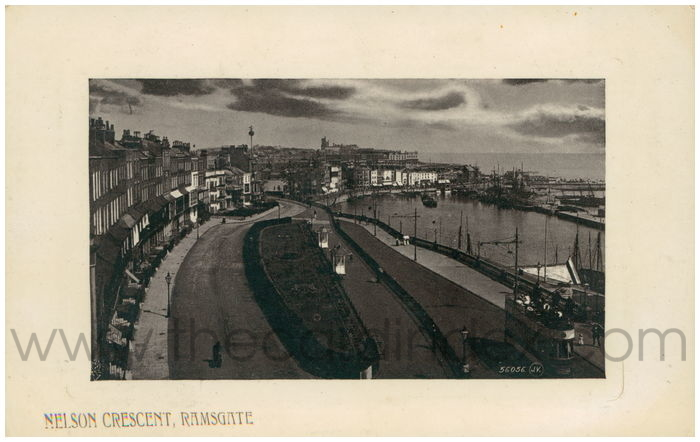 Postcard front: Nelson Crescent, Ramsgate