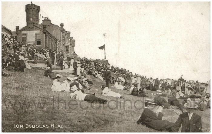 Postcard front: I.O.M. Douglas Head.