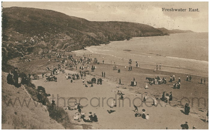 Postcard front: Freshwater East.