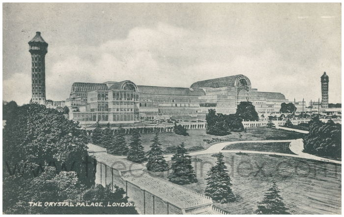Postcard front: The Crystal Palace, London.